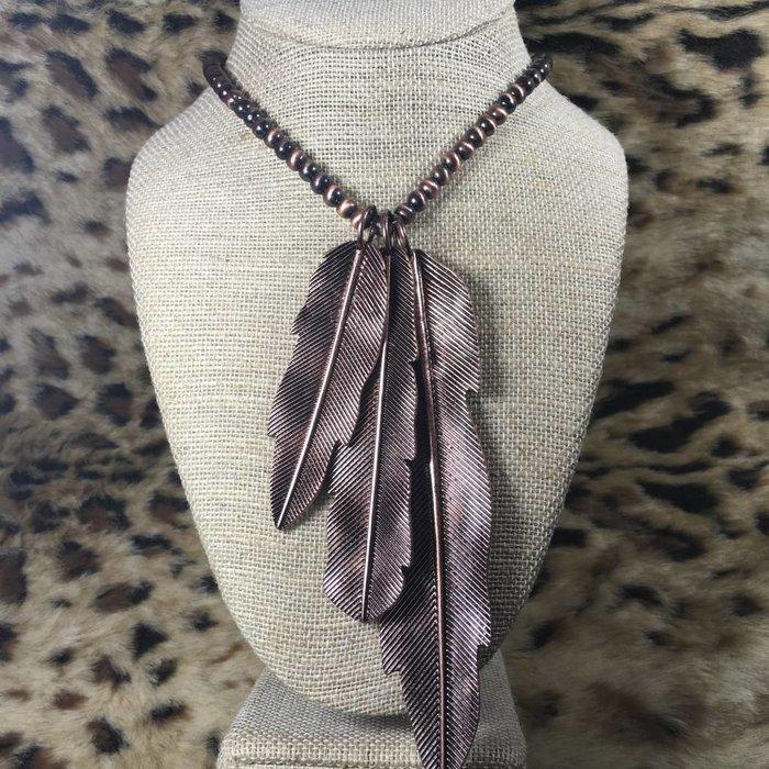 3-Piece Bronze Navajo Pearl Necklace Set