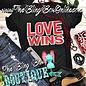 Black Love Wins Crew Neck Graphic Tee