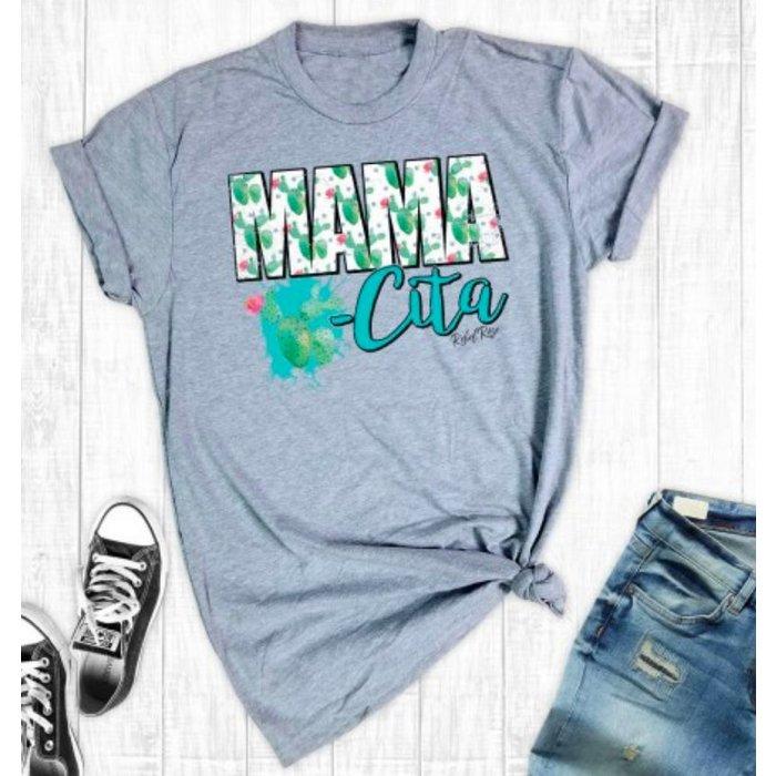 Grey Mamacita Cactus T-Shirt