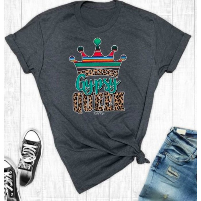 Charcoal Grey Gypsy Queen Graphic Tee