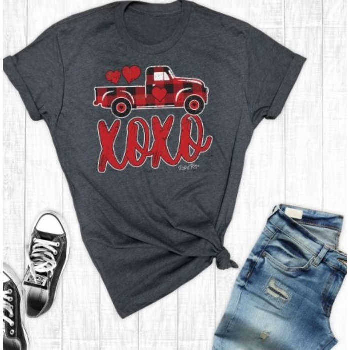 Red Buffalo Plaid XOXO Truck Graphic Tee