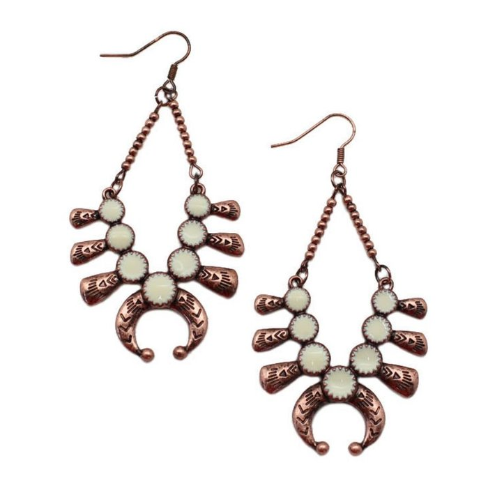 Copper Cream Squash Earrings