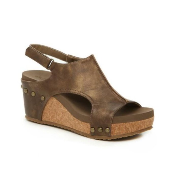 Carley Brown Wedge