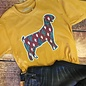 Cactus Goat Show Shirt on Mustard Tee