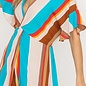 Barrymoore Multi Striped Front Twist Dress