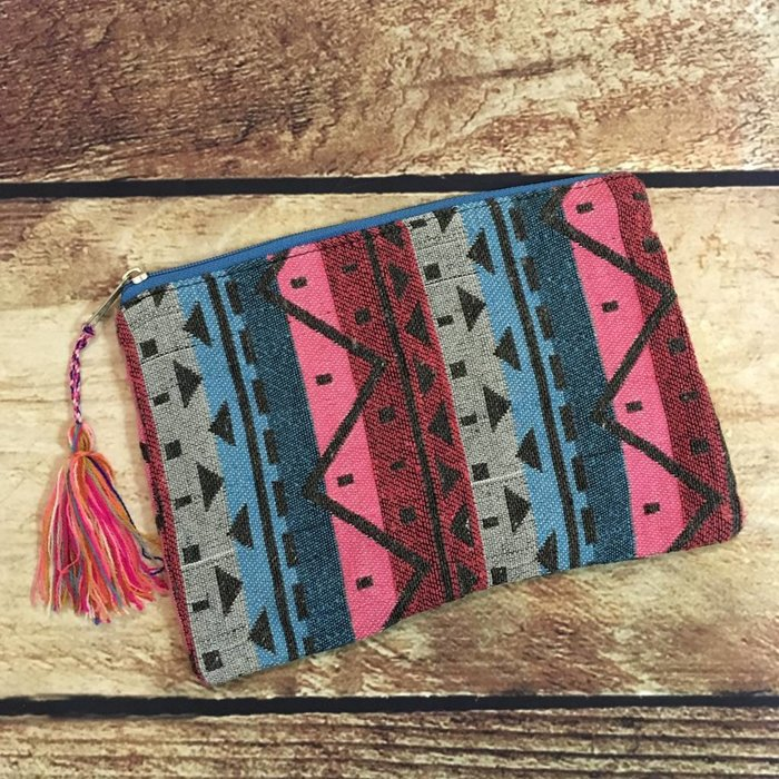 Medium Tapestry Cosmetic Bag - E