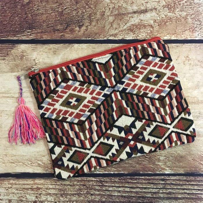 Medium Tapestry Cosmetic Bag - A