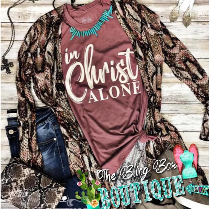 Mauve In Christ Alone  T-Shirt