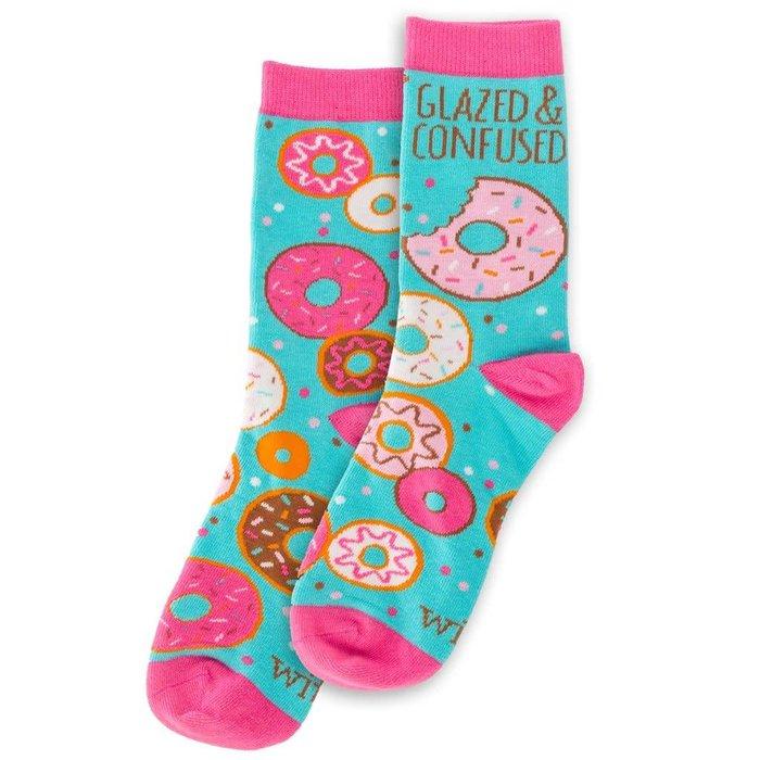 Glazed & Confused Crazy Socks