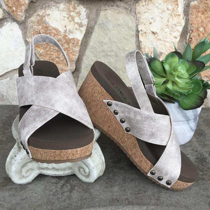 Teresa - Gold Wedge Shoes