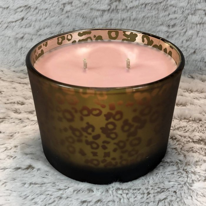 Tyler 16 Oz Bless Your Heart Stature Muted Gold Leopard 2 Wick Candle