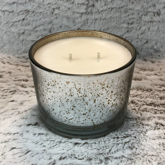 Tyler 16 Oz Diva Stature Platinum on Gold Reflective 2 Wick Candle