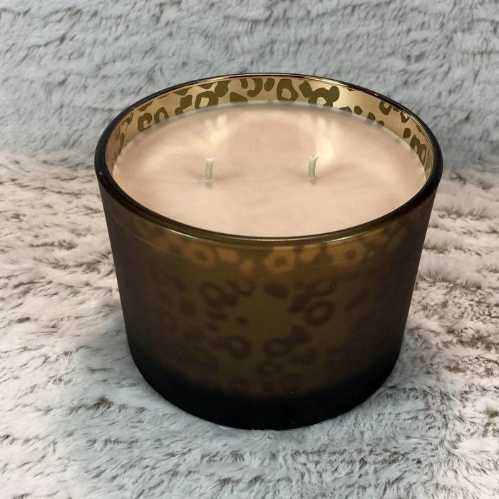 Tyler 16 Oz High Maintenance Stature Muted Gold Leopard 2 Wick Candle