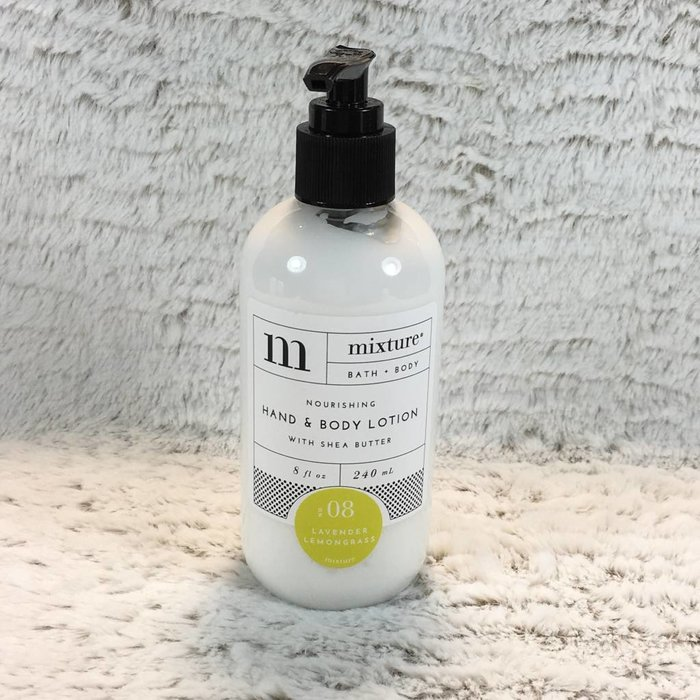 Mixture No 8 Lavender Lemongrass 8 oz Shea Butter Hand Lotion