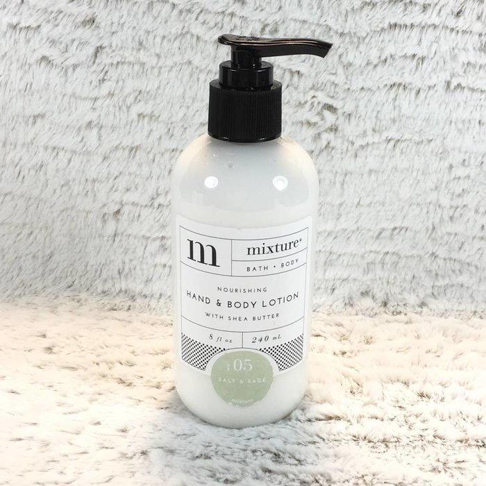 Mixture No 5 Salt & Sage 8 oz Shea Butter Hand Lotion