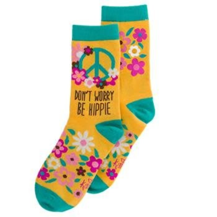 Don't Worry Be Hippie Crazy Socks
