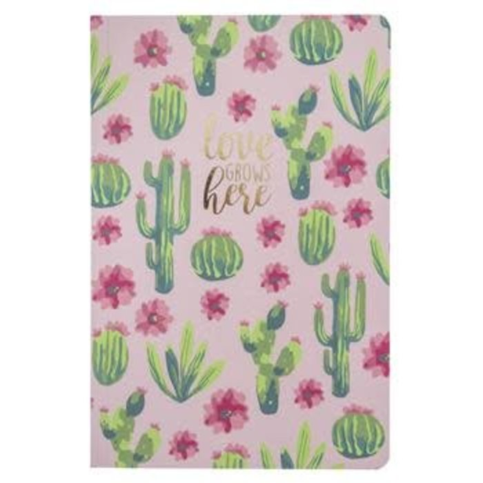 Love Grows Here Cactus Notebook