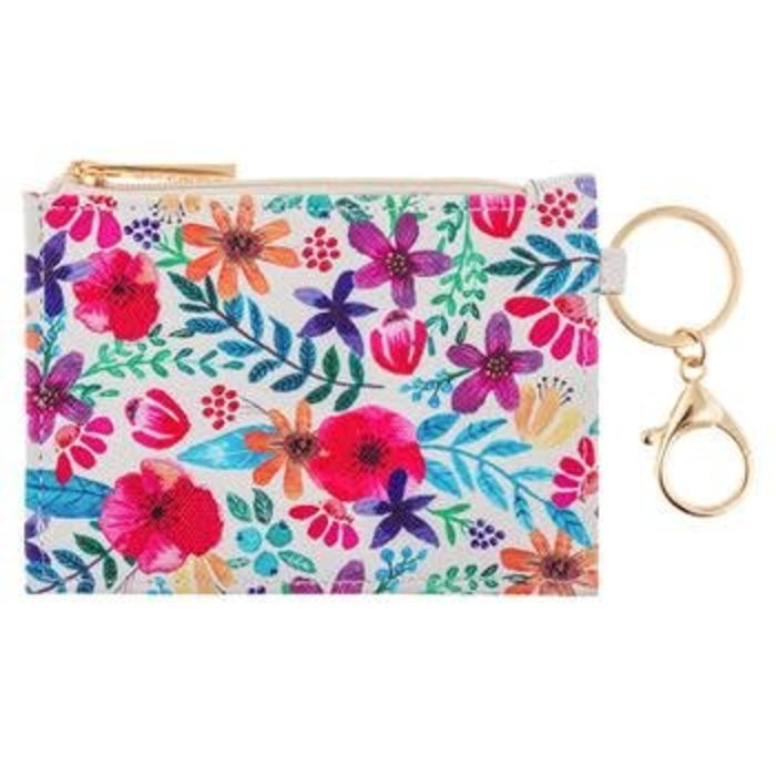 Floral Zip ID Case