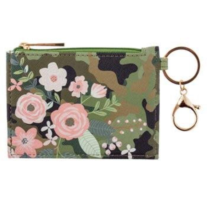 Floral Camo Zip ID Case
