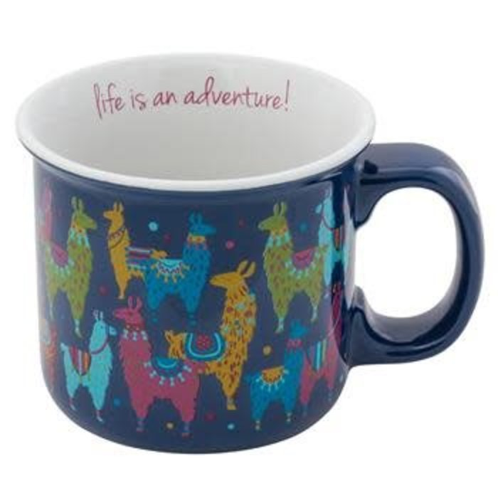 Life Is An Adventure Llama Ceramic Coffee Mug
