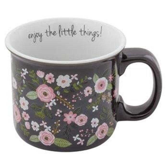 Enjoy The Little Things Floral Ceramic Coffee Mug