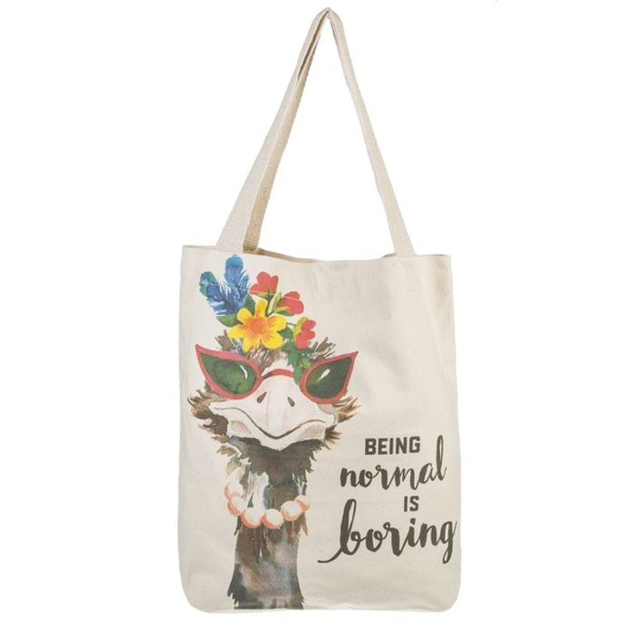 Being Normal Is Boring Ostrich Tote