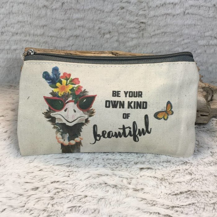 Be Your Own Kind Of Beautiful Ostrich Cosmetic Bag