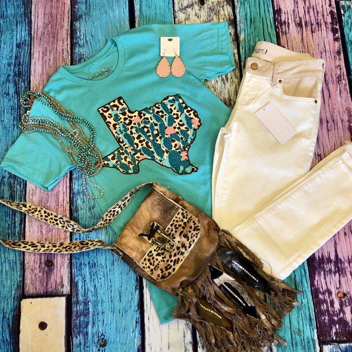 Leopard Cactus Texas T-Shirt