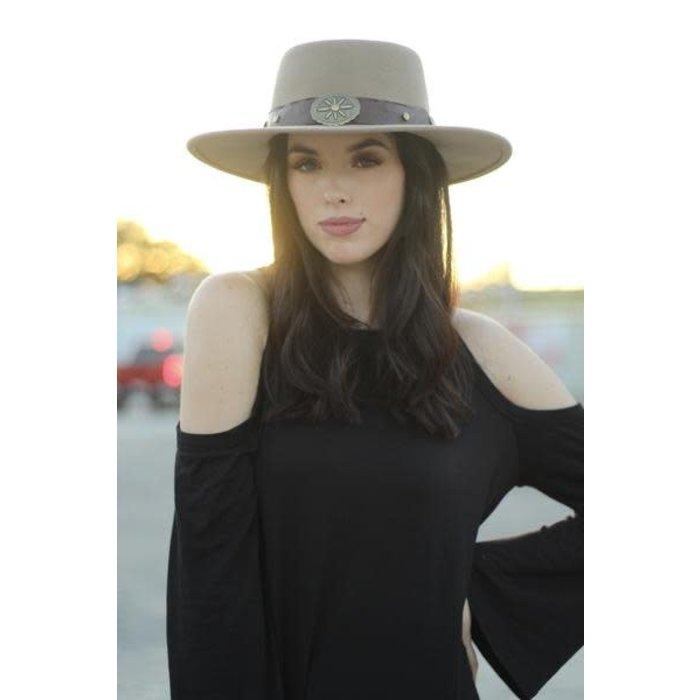 Black Cold Shoulder Long Sleeve Top