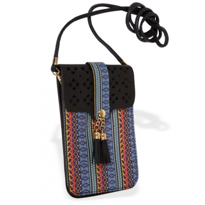 Black & Serape Cell Phone Bag