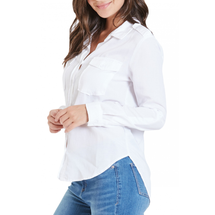 White Allison Button Down Shirt
