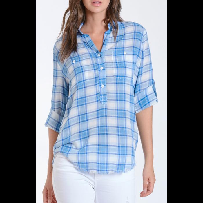 Blue Plaid Emily Lt. Weight Plaid Shirt