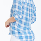 Blue Plaid Emily Lt. Weight Plaid Shirt