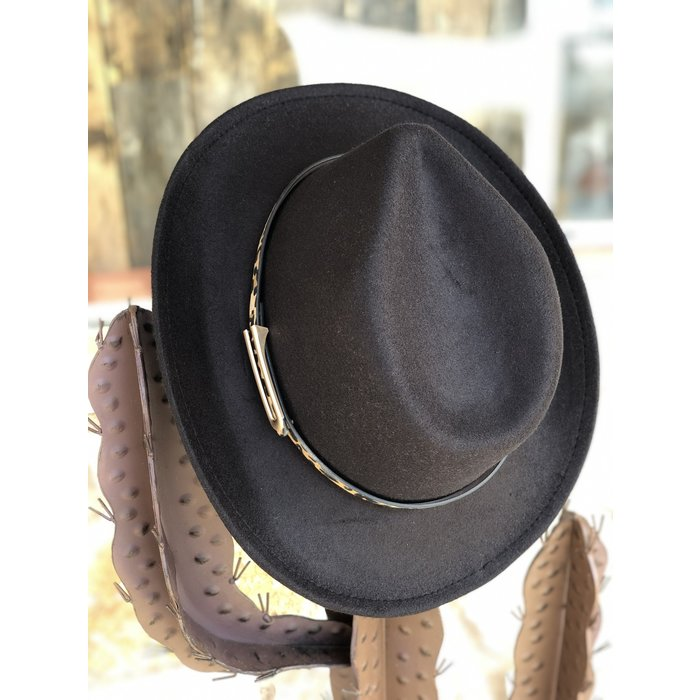 Black Leopard Band Cowboy Hat