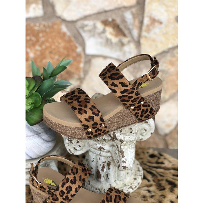 Leopard Wedge Sandal