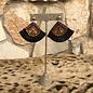 Brown & Black Fringe Earrings