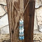 "28"" Turquoise Beaded Tassel Necklace"