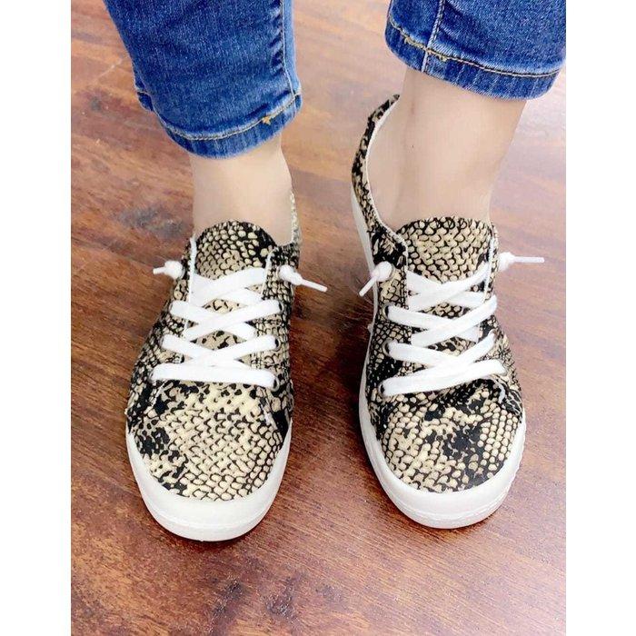 Snake Skin Comfort Tennis Shoes