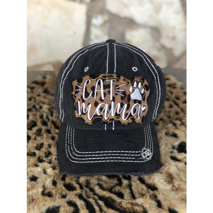 Cat Mama Leopard & Black Hat