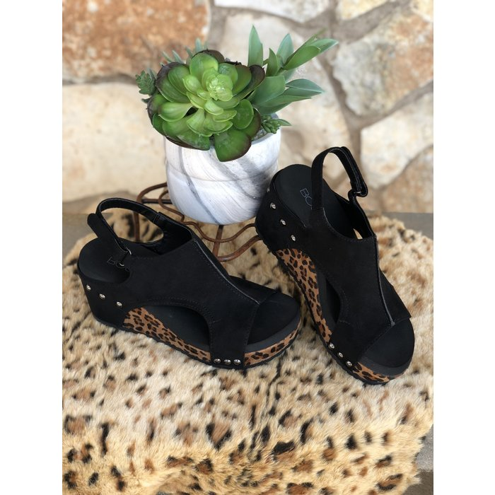 Carley Leopard Wedge Shoe
