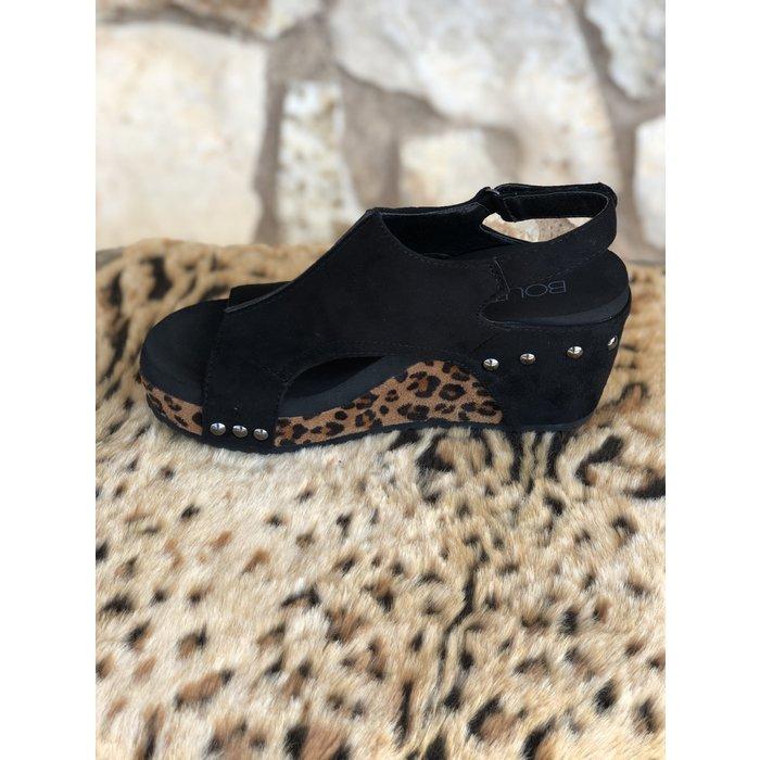 Carley Leopard Wedge Shoe