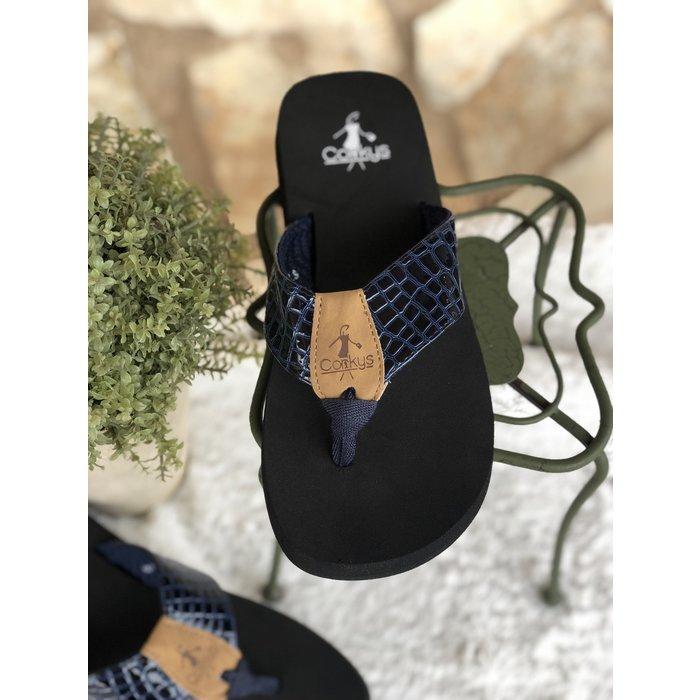 Navy Lumi Flip Flop