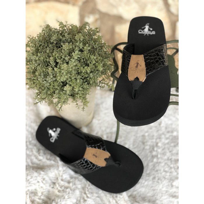 Black Lumi Flip Flop