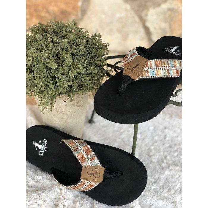 Dingo - Coral Multi Flip Flop