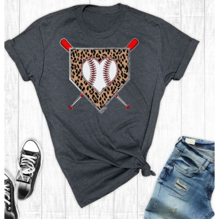 Baseball Leopard Diamond T-Shirt