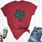 Cardinal Leopard Texas T-Shirt