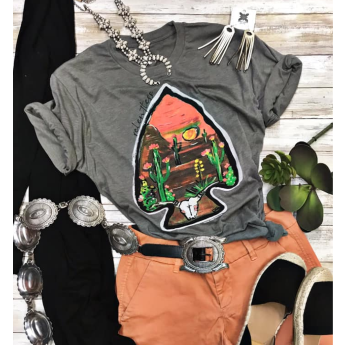 Grey Relentless Arrowhead Graphic Tee