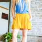 Mustard Flutter Shorts with Pockets