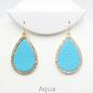 Aqua Rhinestone Teardrop Earrings