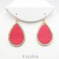 Fuchsia Rhinestone Teardrop Earrings